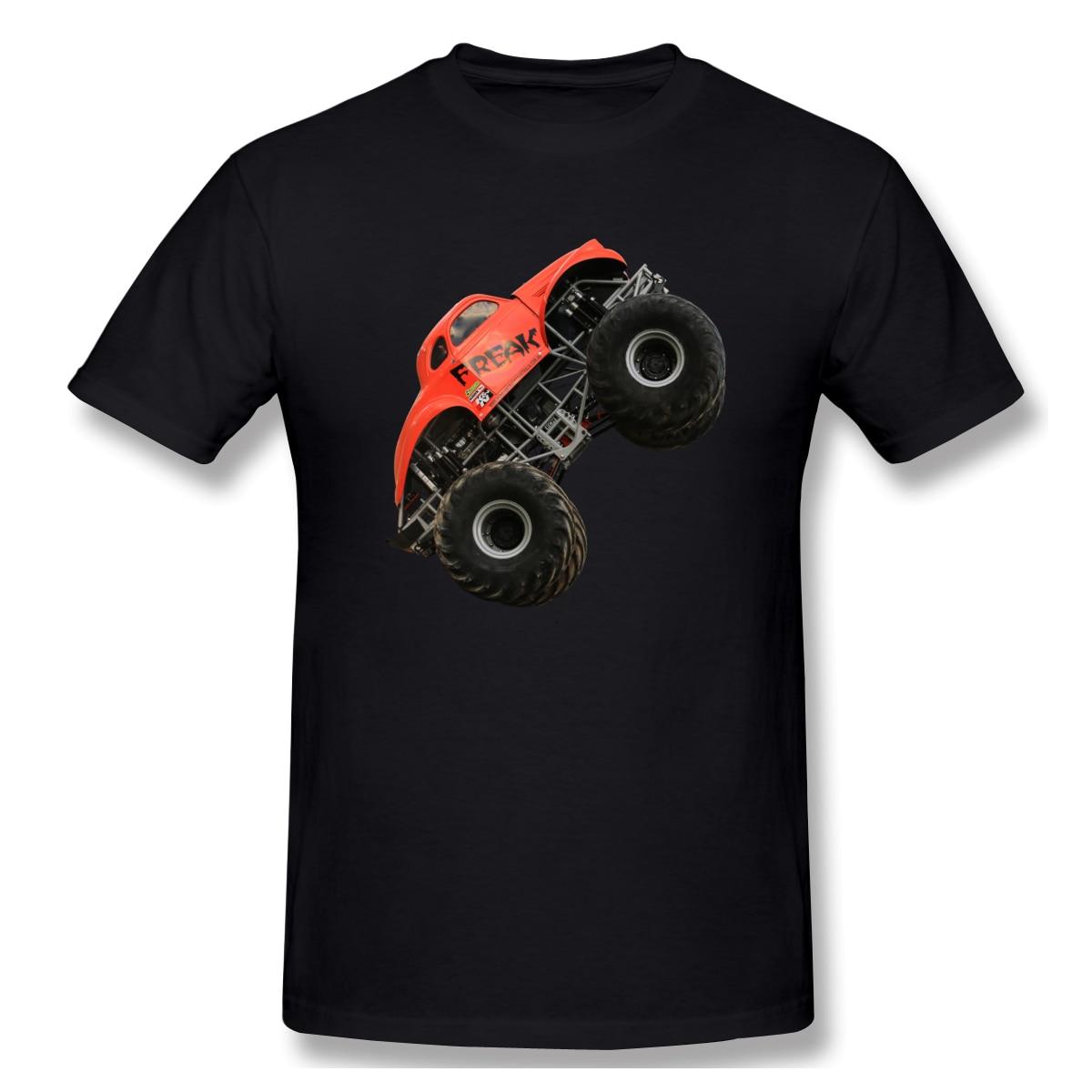 Verano 2020 hombres camiseta Monster Truck Jumping On The Race manga corta Camiseta Hombre o-cuello hombre Camiseta