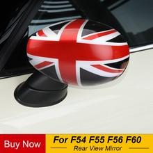 Housse de rétroviseur de porte Union Jack   1 paire, décoration de style de voiture pour Mini Cooper, accessoires nouveau F54 F55 F56 F60 2020