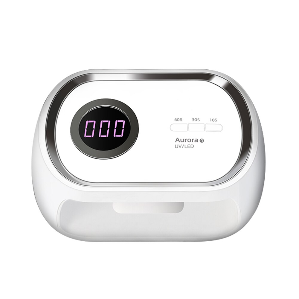Modern Square Lamp Timing and Smart Sensor 48W All-round 24 LED with LCD Nail Dryer Fast Curing Gel UV Lamp for Manicure