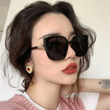 Oversized Square Sunglasses Men Women for Driver Goggles Flat Top Fashion Lens Sun Glasses for Women