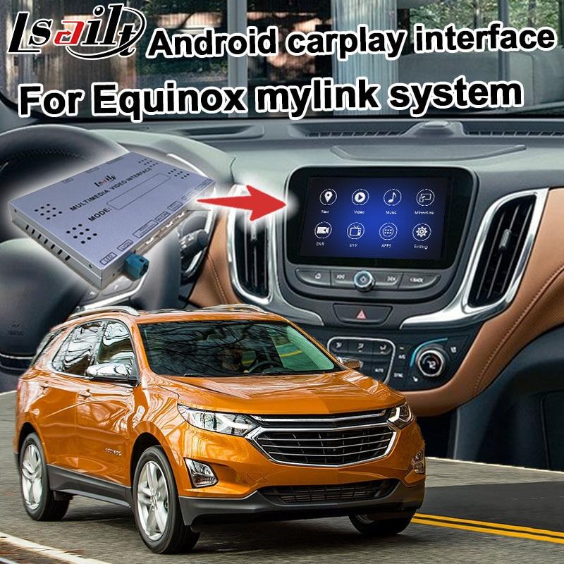 Android/interfaz carplay caja para Chevrolet Equinox 2016-2018 GPS vídeo, navegación interfaz mylink señal sistema Lsailt