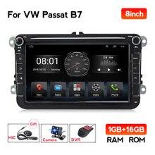 EU Lager Android 9,1 Auto-Radio-Player GPS Für VW / Volkswagen Skoda Octavia golf 5 6 touran passat B6 polo Jetta 2Din Audio