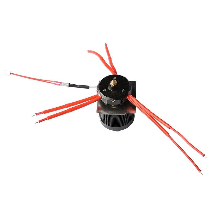 3 en 1 Hotend Kit de salida para impresora A10T/A20T 3D evitar atascos o atascos 1,75mm filamentos 0,4mm boquilla extrusora