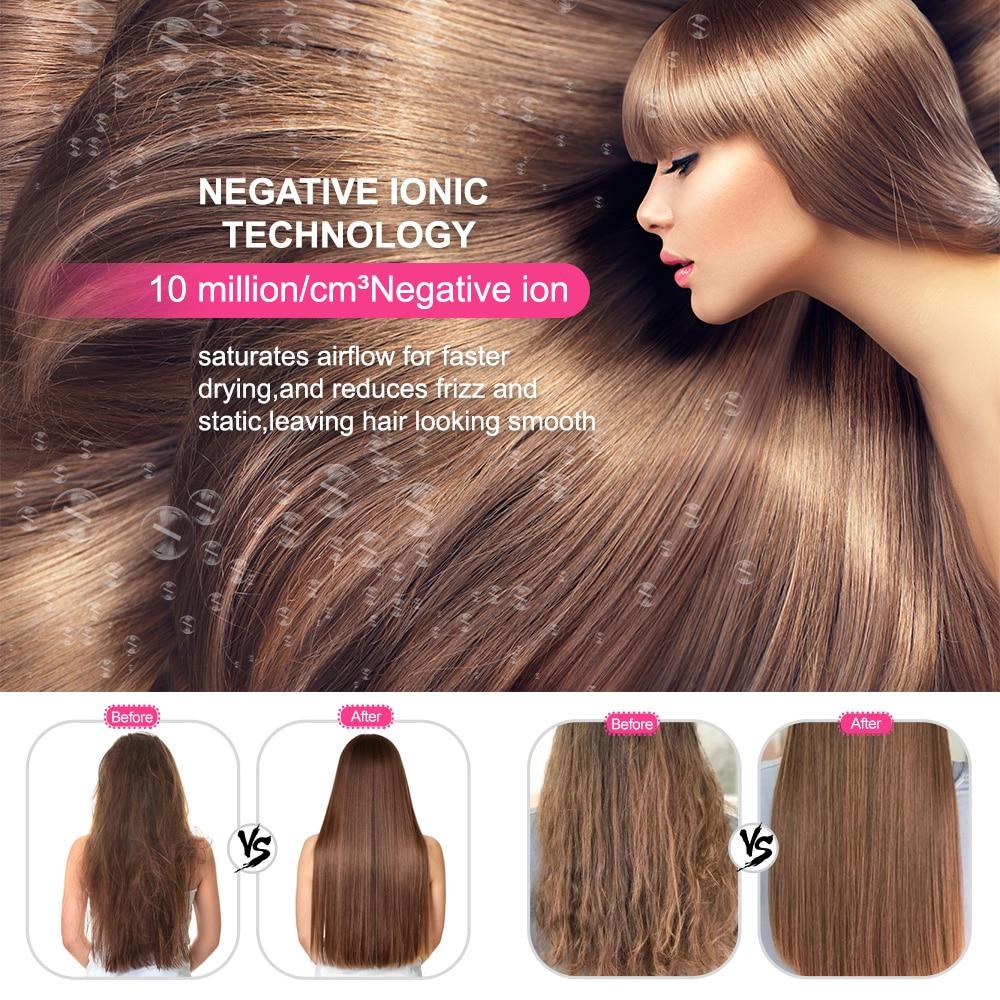 1000W One Step Hair Dryer Volumizer Electric Blow Dryer Hot Air Brush Hair Straightener Curler Comb Hair Dryer And Styler enlarge