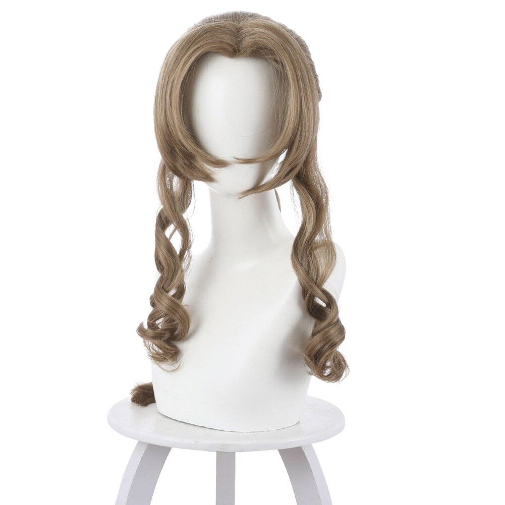Final Fantasy VII Aerith Gainsborough Cosplay Wig Costume Hair Halloween Carnival Wigs