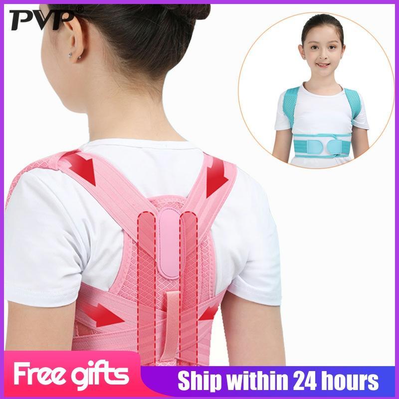 Регулируемый Детский Корректор осанки, поддерживающий пояс для спины, детский Ортопедический Корсет для позвоночника, поясничный плечевой ремень для здоровья