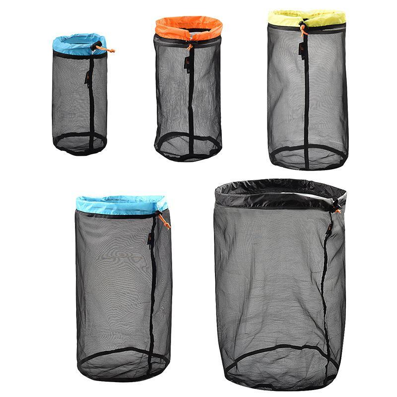 Sleeping Bag Compression Bag Folding Nylon Mesh Storage Bag On For Outdoor Camping Tent Travel Clothing Hammock Stuff Sack Pack