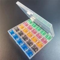 25 grid plastic empty bobbins case transparent bobbin organizer storage box for sewing machine