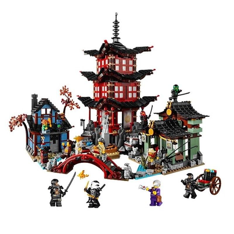 810 Uds. 10427 de Stiix Templeing de Airjitzu Ninjagoing espadachín trueno bloques de construcción juguetes 70751