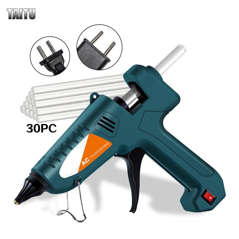 TAITU Glue Gun 200W 100-240(V) Professional High Temperature Hot Melt Glue Gun Repair Tools Hot Glue Gun With Glue Stick недорого