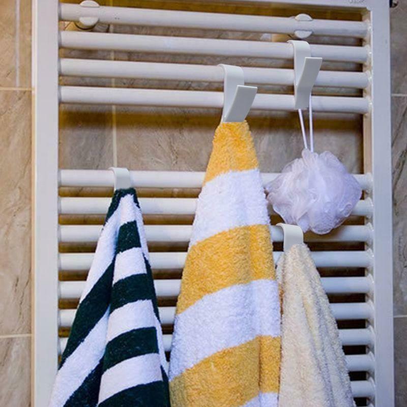 Gancho de trapeador de toalla colgador de ropa sombrero radiador Tubular baño gancho soporte TSH Shop