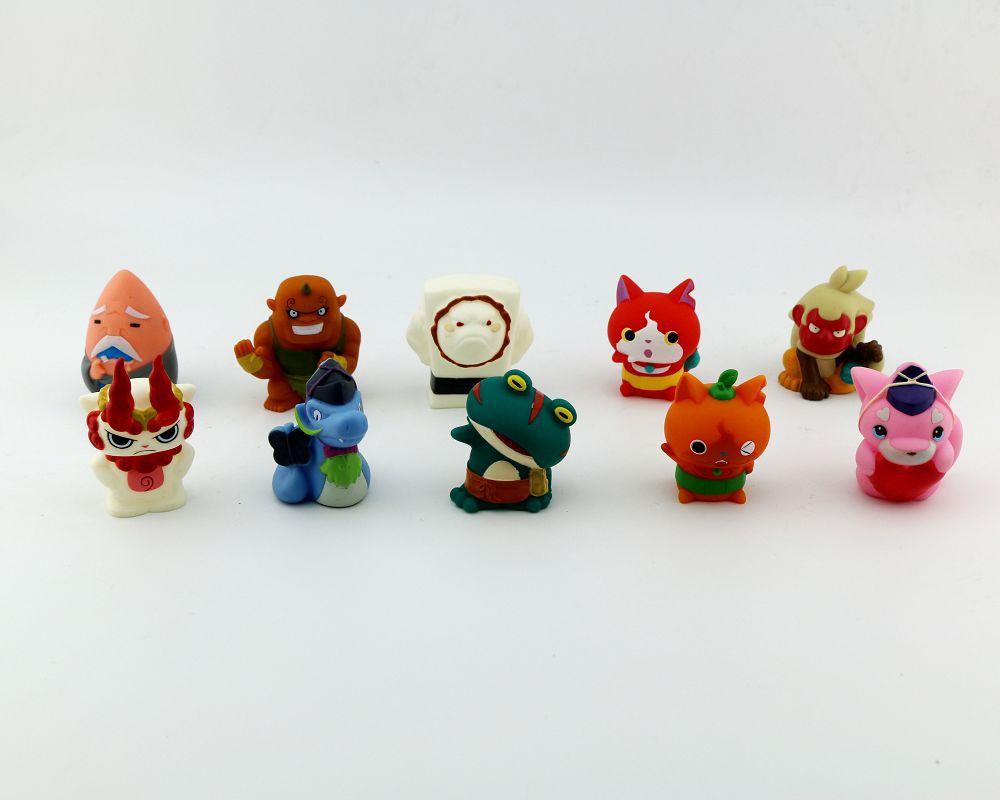10-200 Uds 5cm reloj yo kai juguete japonés youkai ver anime reloj yo-kai watch muñeca de goma figura de acción de colección de juguetes para los niños