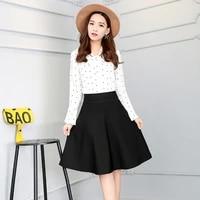 female korean elegant skirt long skirt plus size 4xl shorts skirts womens 2020 summer a line sun school high waist pleated skirt