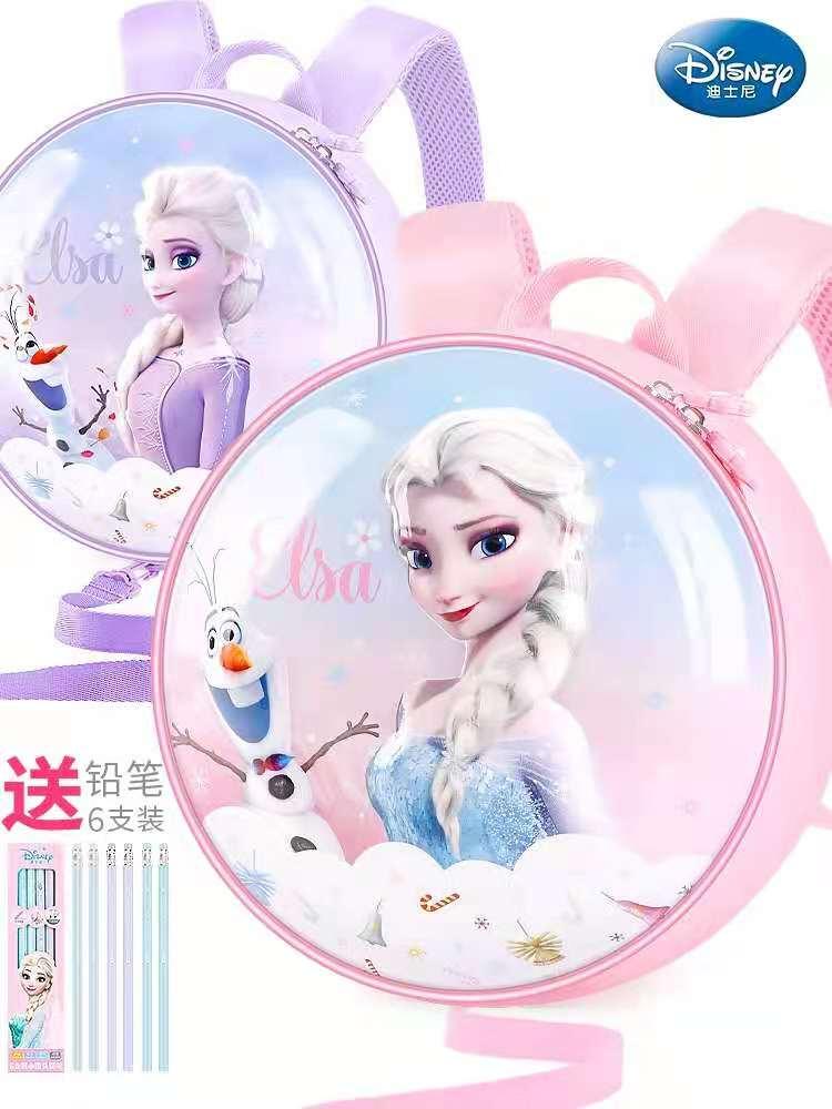 Disney Frozen Kindergarten Backpack For Girls Elsa Anna Student Shoulder School Bags Children's Backpack Age 3-8 Years Mochila