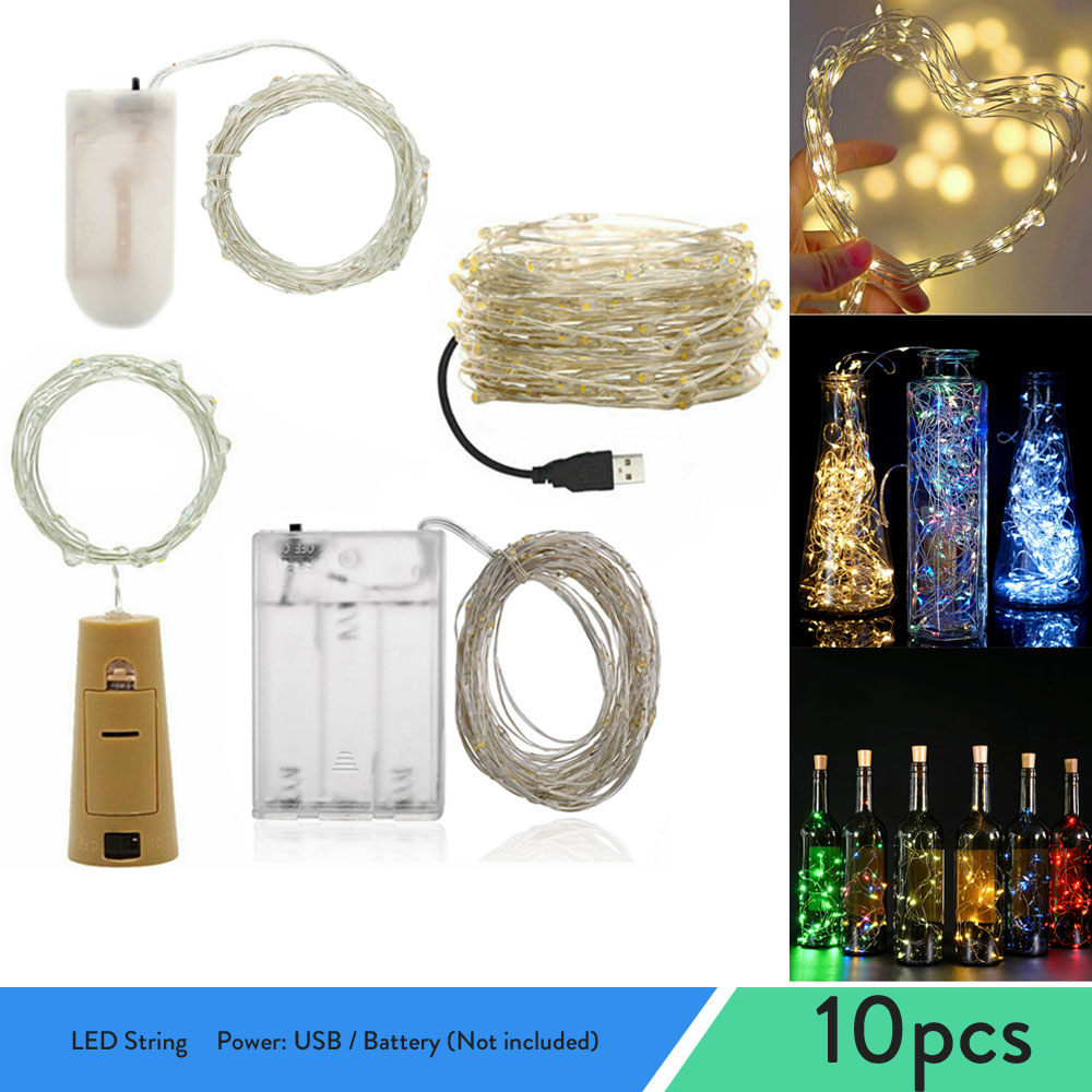 100 led string lights 10m 5m 1m usb waterproof copper silver wire garland fairy lights for christmas decoration wedding party 2M 5M 10M Fairy Lights Copper Wire LED String lights For Christmas Garland Wedding Party Indoor Room Decoration Battery USB