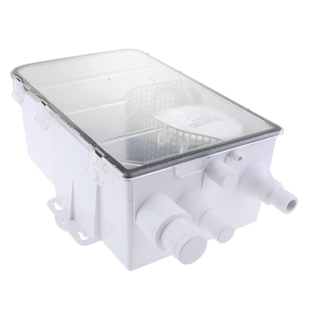 Sistema de bomba de sumidero de ducha automática náutica 600 GPH 12V caja estándar