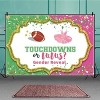touchdown or tutus gender reveal background portrait photography surprise party photozone decors backdrops studio accessories