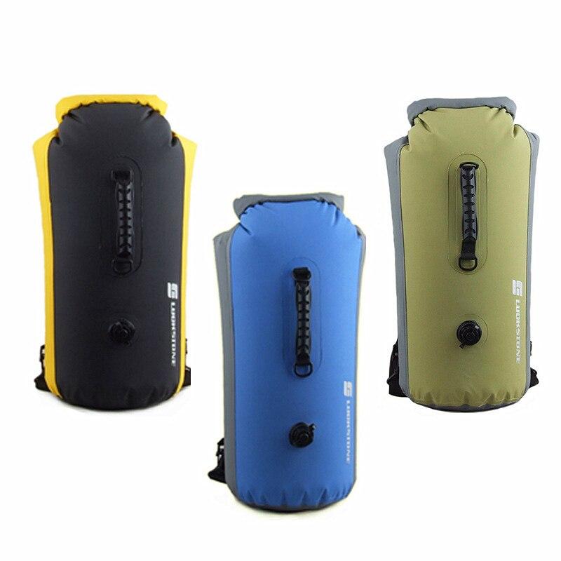 25/60L Outdoor Rafting Inflatable Backpack Shoulder Bag Waterproof Swimming Bucket