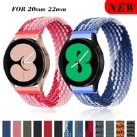 braided solo loop for samsung galaxy watch 4classic strap 46mm42mmactive 2gear s3 bracelet 20mm22mm galaxy watch 3 band