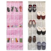 24 lattice door hanging bag save space can be hung on a hanger multi layer storage hanging bag home footwear storage tools