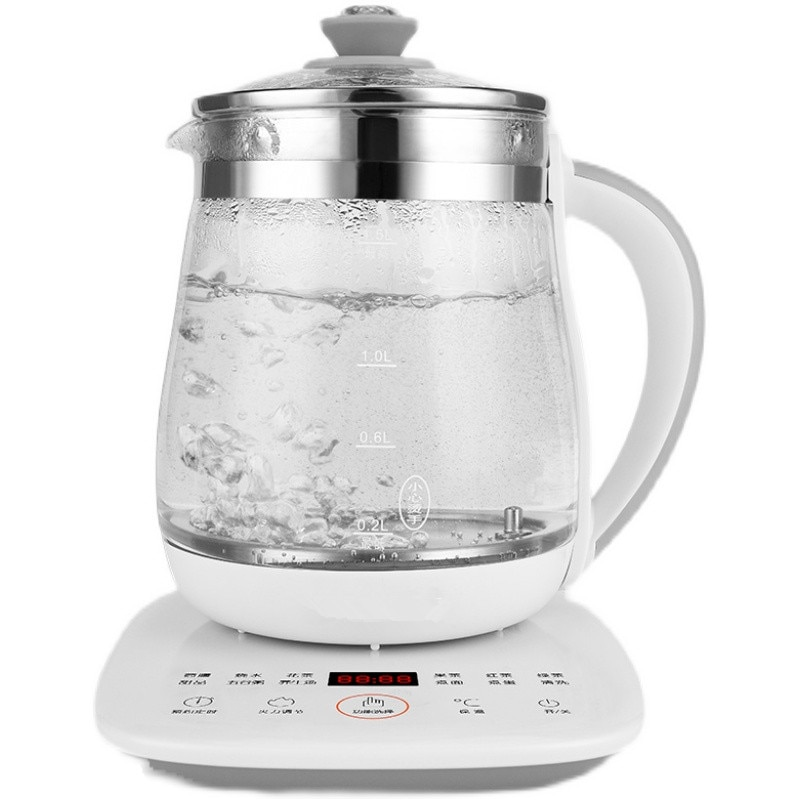 220V 1.5L Automatic Electric Glass Kettle Tea Brewer Household Automatic Health Pot Home Teapot Boiling Pot Portable Kettle health pot household tea maker multifunction electric kettle smart touch hot water heating insulation kettle decocting pot
