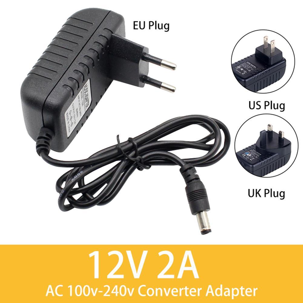 Convertidor adaptador/cargador de pared DC12V 2A AC100V-240V fuente de alimentación/UK/UE enchufe accesorio de computadora alta anti-eléctrico fuerza