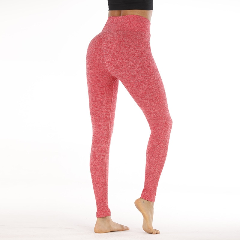 High waisted seamless leggings for women yoga capris push up fitness pants running tights tummy cont