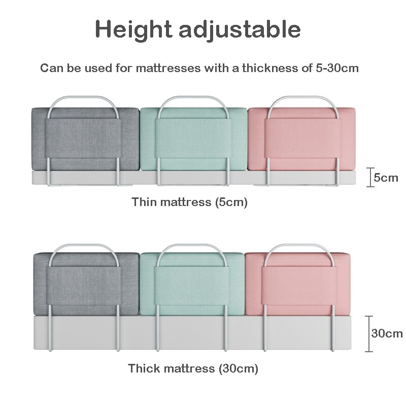 28cm Height Baby Bed Bumper Crib Rail Guard Adjustable Anti-collision Children's Bed Fence Barrier General Soft Gate Crib enlarge