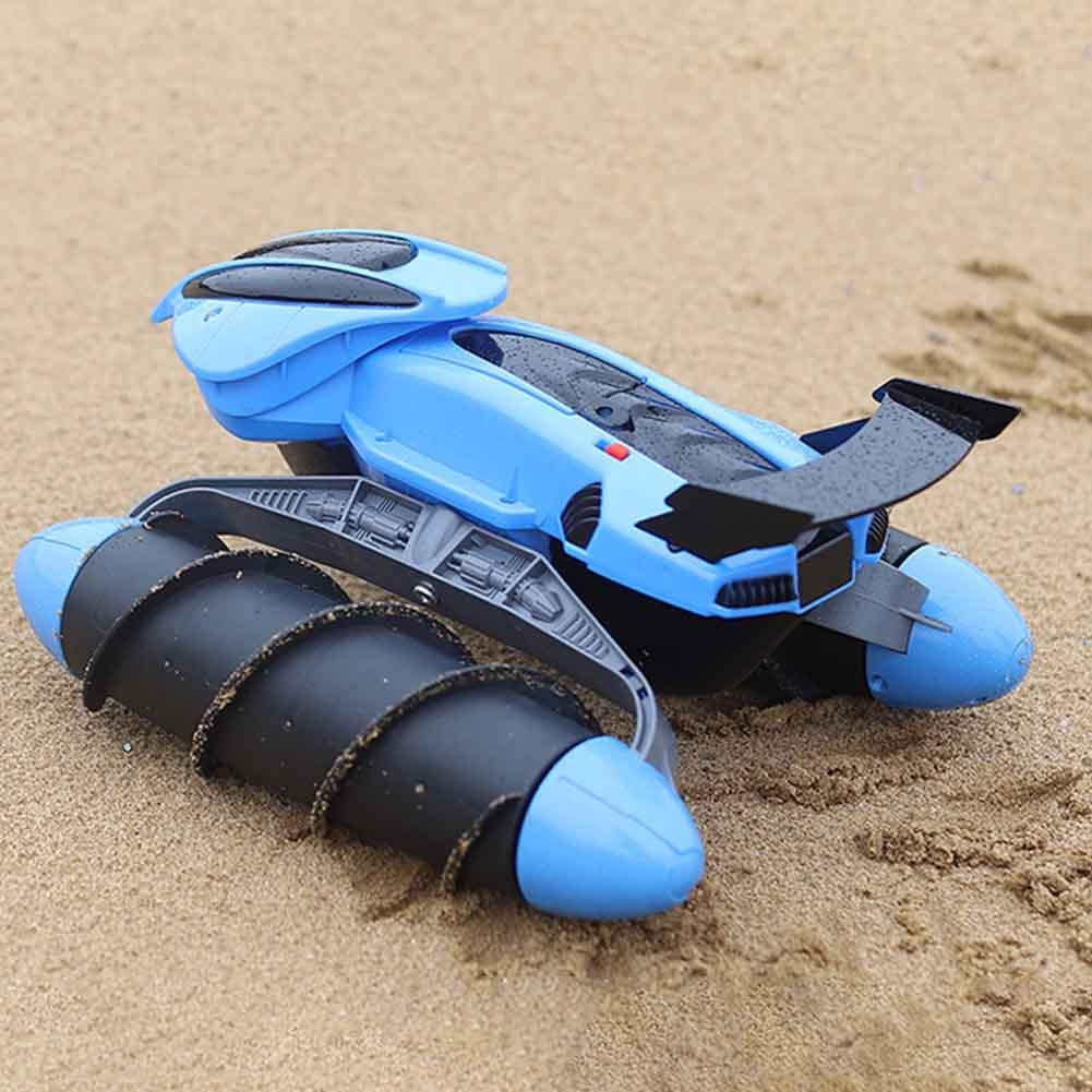 Juguete para niños, para interiores, exteriores, anfibio, 4WD, truco todoterreno, regalo, 2,4 GHz, coche de carreras RC operado con batería, giro de 360 grados