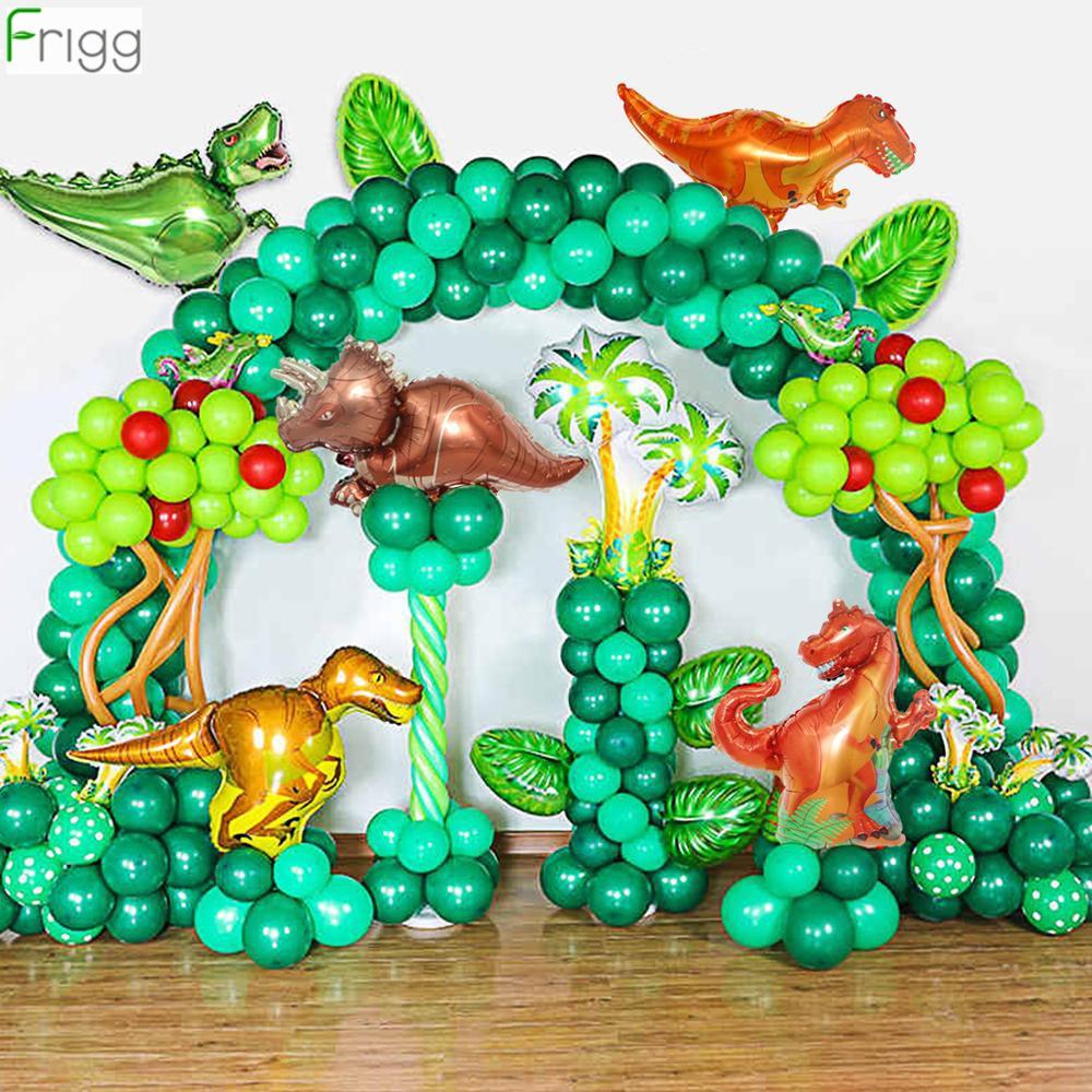 Воздушный шар с динозавром тропические шары с днем рождения Детские джунгли сафари зеленая фольга балон динозавр балон мир Юрского периода...