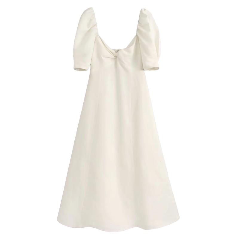 Elegant women soft cotton linen white dress 2020 summer fashion ladies vintage boho long dresses party female chic dress girls