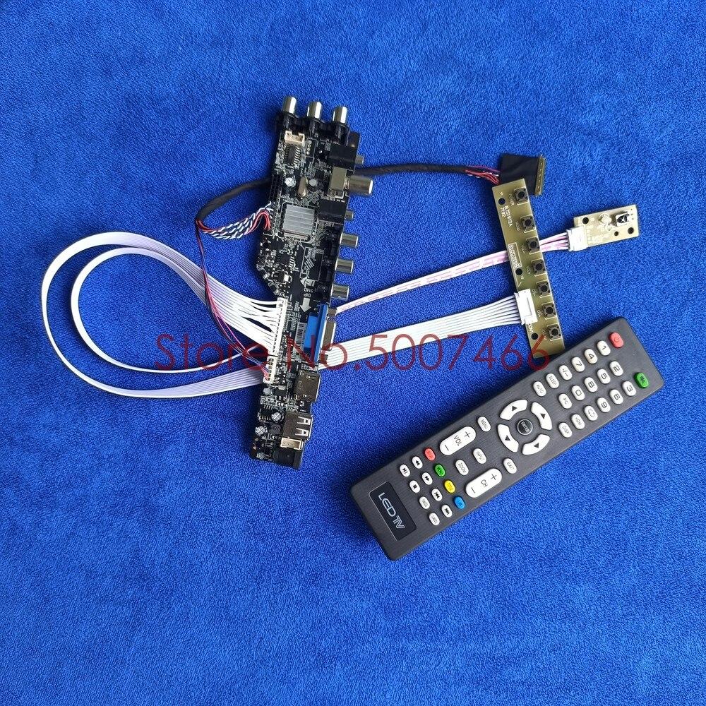 لوحة LCD رقمية عالمية مع VGA ، USB ، AV ، تلفزيون 1366 LVDS ، دبوس ، DIY ، لـ B101XTN01.1 ، B101XTN01.0 ، DVB ، 768*3663