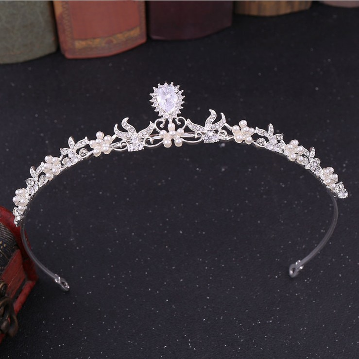 Corona de novia a la moda corona diadema nupcial de cristal accesorios...