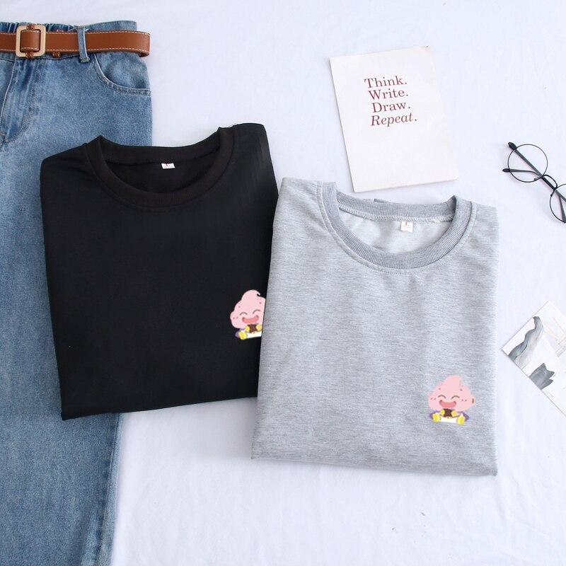 2019 nova moda retalhos pulôver harajuku hip hop impressão dos desenhos animados moletom solto o-pescoço topos outono inverno roupas masculinas