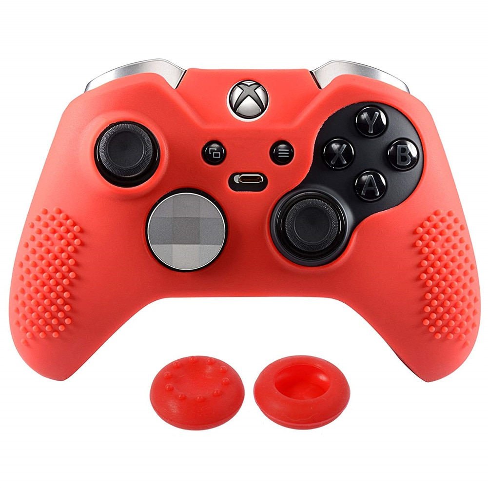 1 Pcs Silicone Protective Sweat Case Cover Skin Shell For Xbox One S X Controller With 2 Thumbsticks Stick Caps Accessories