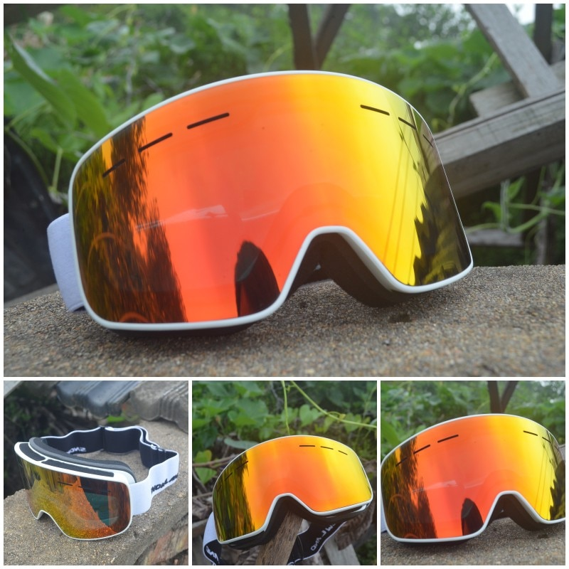 Anti Fog Mountain Ski Glasses Women Snowboard Goggles Windproof Ski Goggles Large Cylinder Snowboard Homme Skiing Eyewear EF50SG