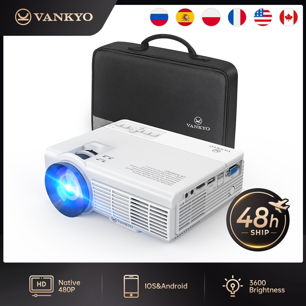 VANKYO Leisure C3MQ Mini Projector Supported 1920*1080P 170'' Portable Projector For Home With 40000