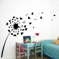 AiyoAiyo-autocollants muraux creatifs pissenlit   Autocollant mural moderne mode pour bebes enfants  decor pour chambres  decoration de maison Style nordique