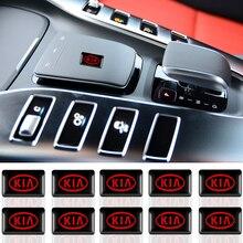 10 pièces voiture style 3D décorations autocollants autocollants emblème badge pour KIA K2 K3 K5 Sorento Sportage R Rio Soul décalcomanies accessoires
