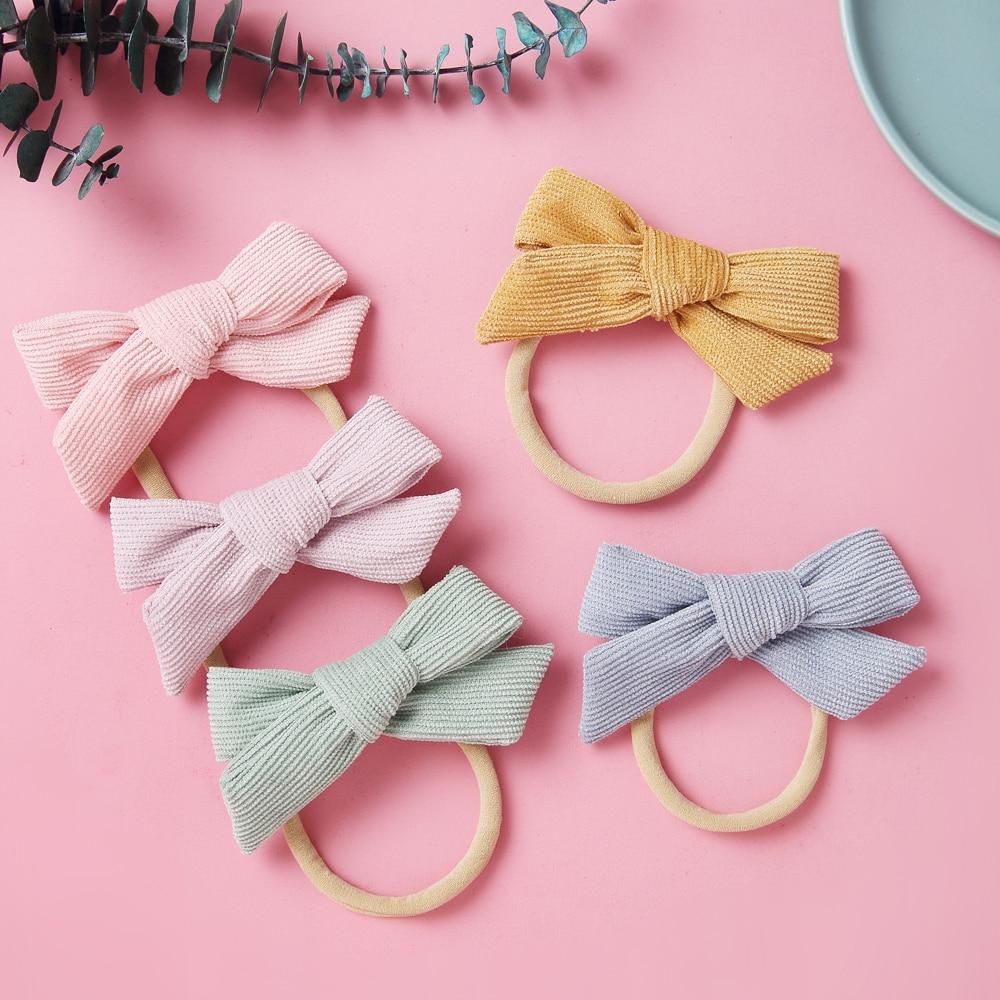 15pcs/Set Baby Headband Bows Headbands For Newborn Nylon Hair Bands For Baby Girls Cute Bow Tie Kids Headwear Hair Accessories