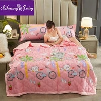 washed cotton summer cool quilt air conditioning quilt thin quilt in student dormitory for children thin quilt single double