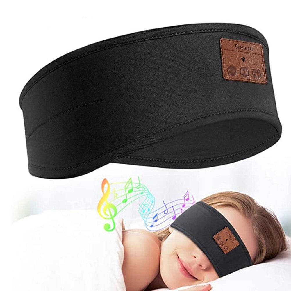 Перезаряжаемая Bluetooth 5,0, спортивная повязка на голову, музыкальная маска для сна, головной убор, повязка на голову, гарнитура, маска для сна