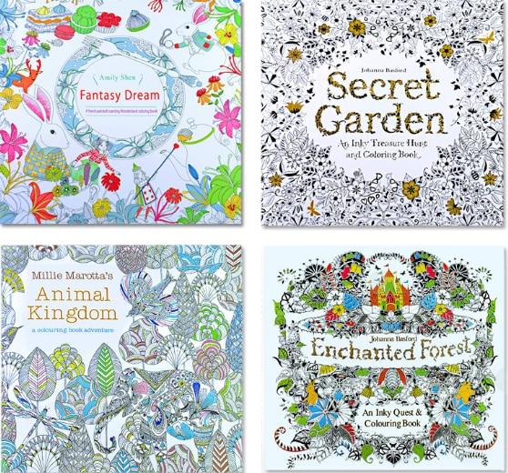 Libro de colorear con diseño de bosque mágico pintado a mano de descompresión para niños de Secret garden 1ps