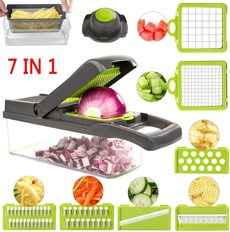 7 in1 cortador de legumes ralador slicer cenoura batata descascador queijo cebola lâmina aço mandoline cozinha acessórios ferramentas frutas