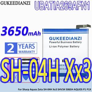 GUKEEDIANZI High Capacity Battery UBATIA269AFN1  3650mAh For Sharp Aquos Zeta SH-04H Xx3 SHV34 506SH AQUOS P1 P1X Bateria