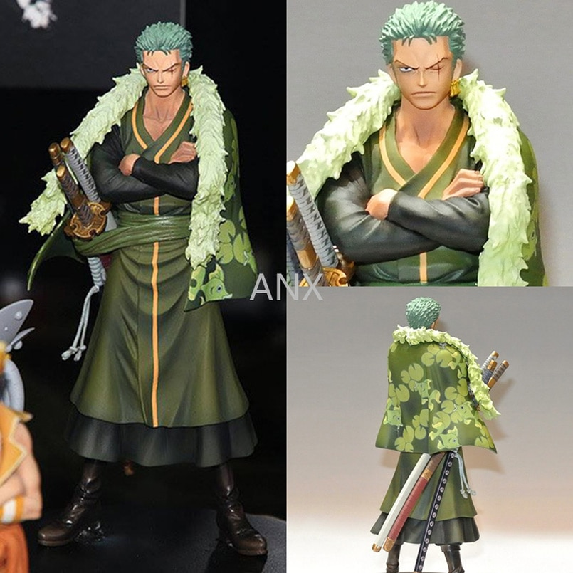 17CM One Piece Roronoa Zoro Figure Toy PVC Action Anime Collection Toys For Children shankusu figure one piece Zoro 15cm anime one piece figure combat version marshall d teach figure toys collection pvc action figure one piece toys model gifts