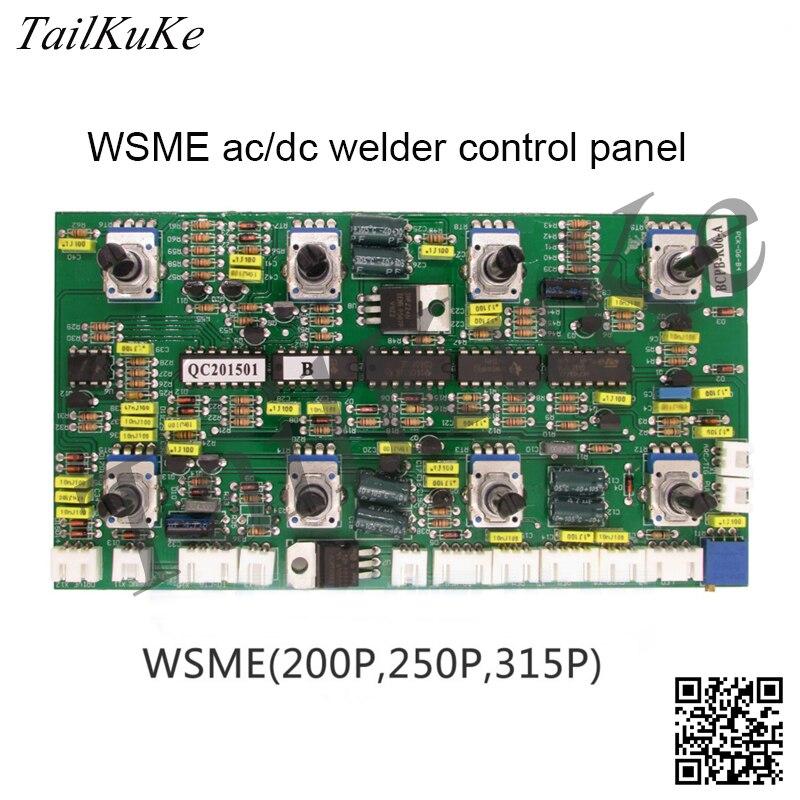 WSME 200P 250P 315P AC / DC Pulse Argon Arc Schweißen Maschine Control Panel 8 Potentiometer