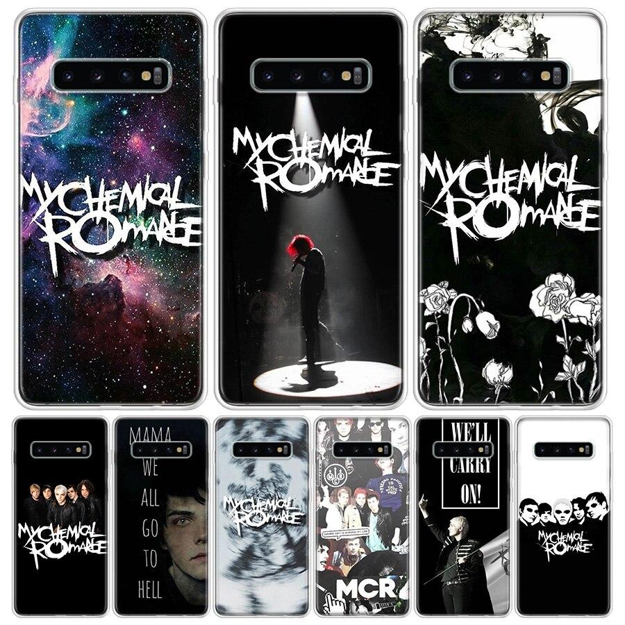 Caixa Do Telefone Para Samsung Galaxy A51 My Chemical Romance MCR A71 A70 A50 A40 A30 A20E A10S M30S A01 A6 A7 A8 A9 Plus Tampa Tendência