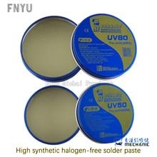 MECHANIKER Keine-Sauber Paste Flux Löten Zinn BGA Solder Flux Elektrische Lötkolben Magnetflüssen UV80 UV50 Für PCB/BGA/PGA/SMD