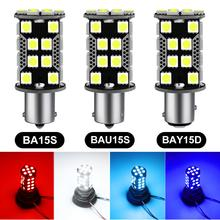 1 stücke 1156 BA15S P21W Led-lampe BAU15S PY21W 1200LM Auto Blinker Lampe 1157 PY21W BAY15D 40SMD 5050 Chips auto Lampe Lampen 12V